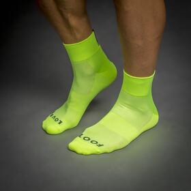 GripGrab Lightweight SL Short Socks yellow hi-vis